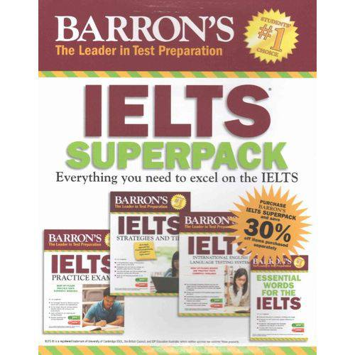 Barron's Ielts Superpack - Four Books, Two Audio Cds And Three MP3 Audio Cds - Third Edition - Barro