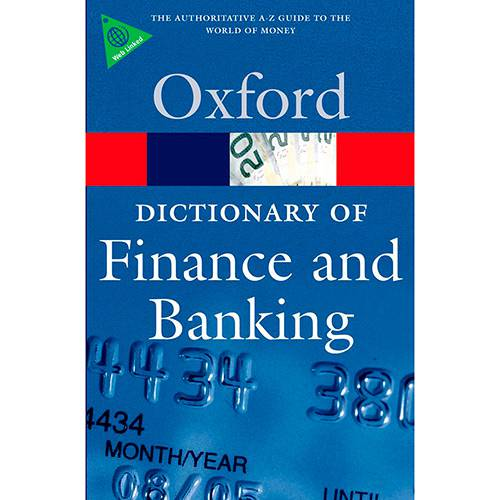 Livro - a Dictionary Of Finance And Banking