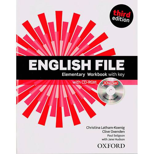 Livro - English File: Elementary WorkBook With Key With CD-ROM