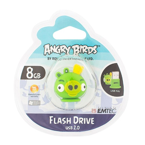 Pen Drive Angry Birds 8GB Rei Porco (King Pig)